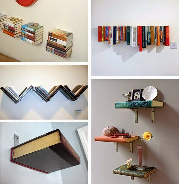 C mo decorar con libros for Decoracion con libros