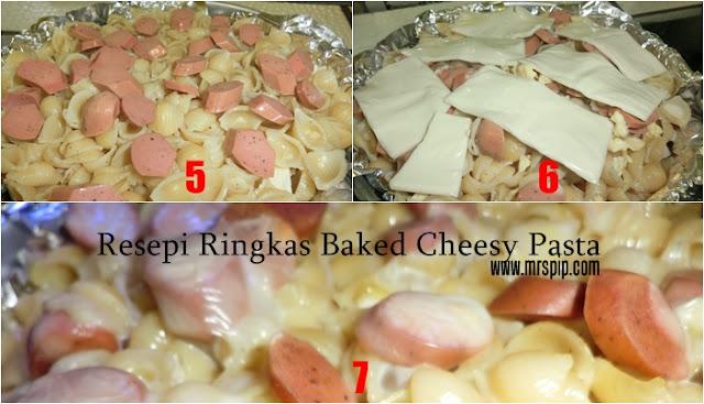 Resepi Ringkas Baked Cheesy Pasta