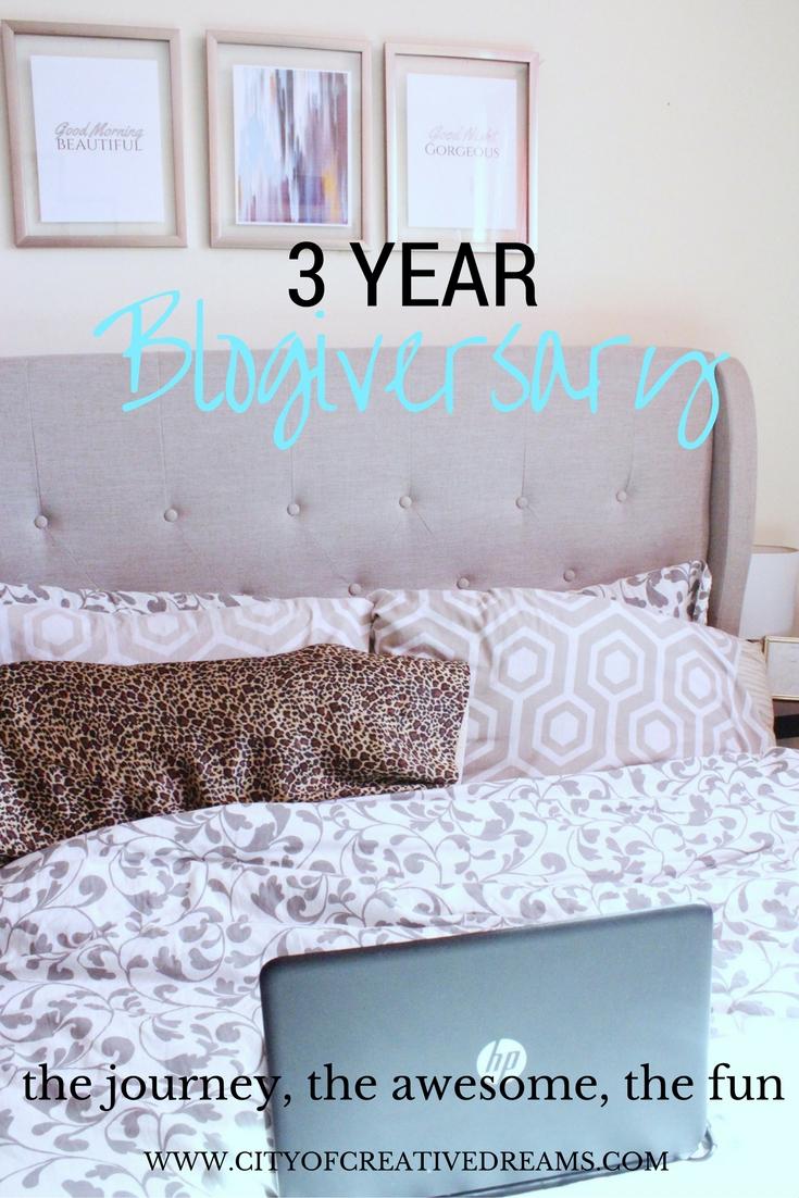 3 Year Blogiversary! |City of Creative Dreams