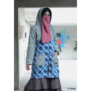 Hijacket ShaKila Warna Brown Black Navy Grey Army  Model eksklusif terbaru yang dirancang dengan kombinasi lebih berani bergaya motif batik & fashion hijaber yang membuat hijabmu lebih nge-blend secara sempurna dengan Hijacket