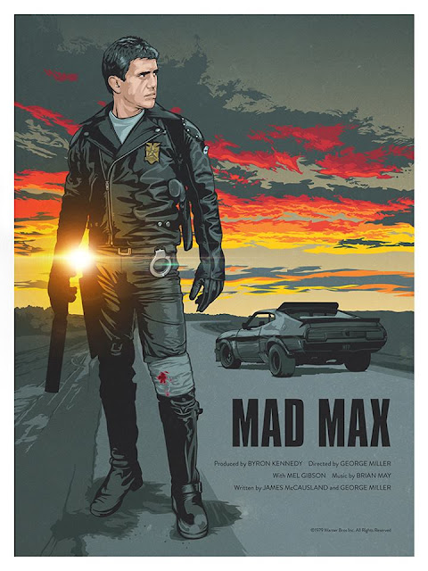 Mad Max Movie Poster - Illustrator Unknown