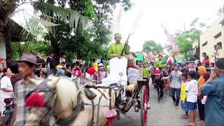 Kereta Kuda Ramaikan Kirab Pusaka di Jombang