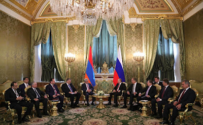Russian President meeting with President of Armenia Serzh Sargsyan.