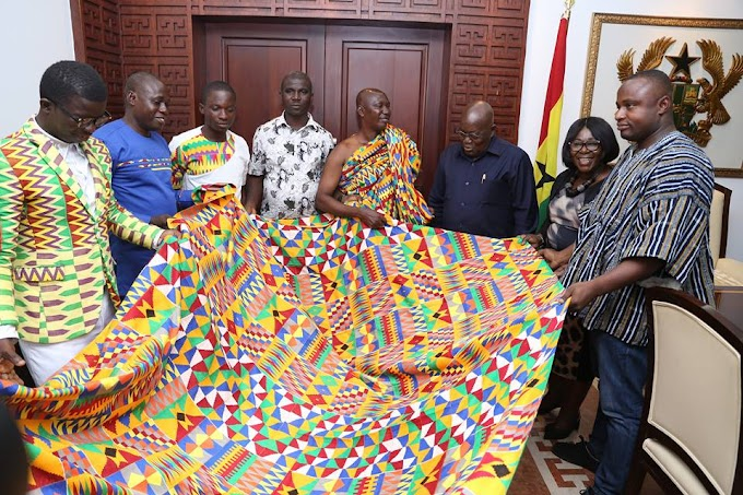 Adanwomase Kente Weavers Name Traditional Cloth After President Akufo Addo