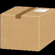 ダンボール箱の荷物のイラスト