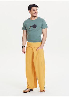 Sarı renk balıkçı pantolonu