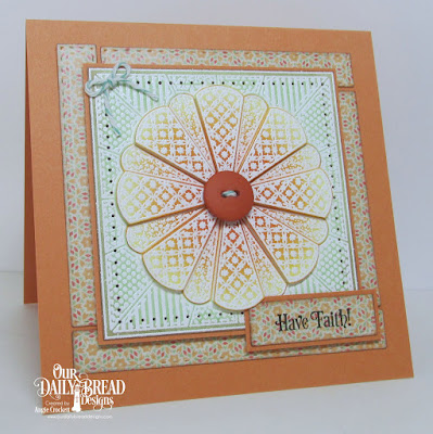 ODBD Dresden Quilt Stamp, ODBD Faith Card Sentiments, ODBD Custom Log Cabin Die, Cozy Quilt Paper Collection, Card Designer Angie Crockett