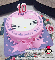 Kue Tart Fondant 2d Hello Kitty