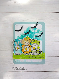 Boo a card by Diane Morales | Halloween Trio Stamp Set by Newton's Nook Designs