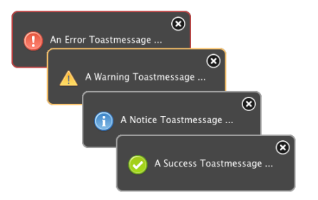 jQuery Toastmessage jQuery Plugin With Android-like