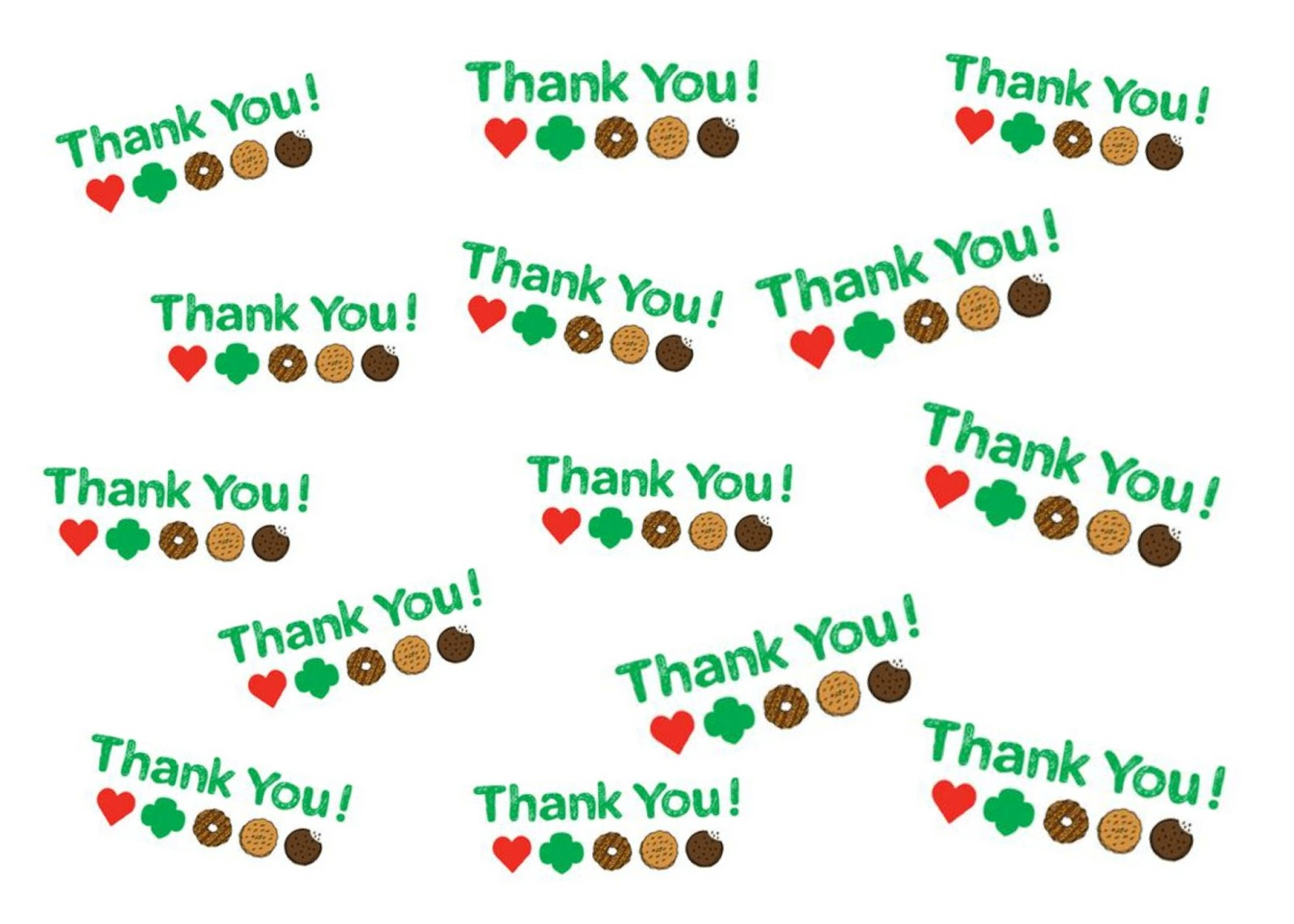 image regarding Girl Scout Cookie Thank You Note Printable known as The Bourgeois Mother: Female Scout Printables for Cookie Sale
