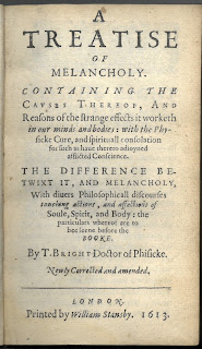 Title page to A Treatise of Melancholy