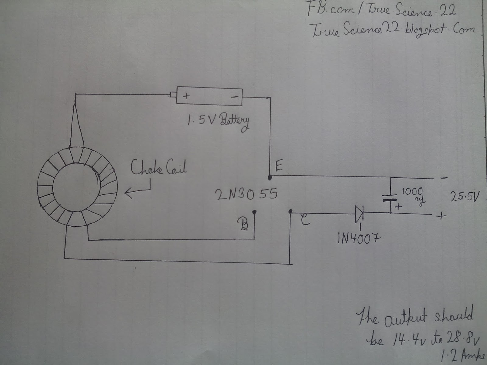 this is a simple inverter for 12v 3w led induction coil everywhere use for power boosting circuit diagram [ 1600 x 1200 Pixel ]