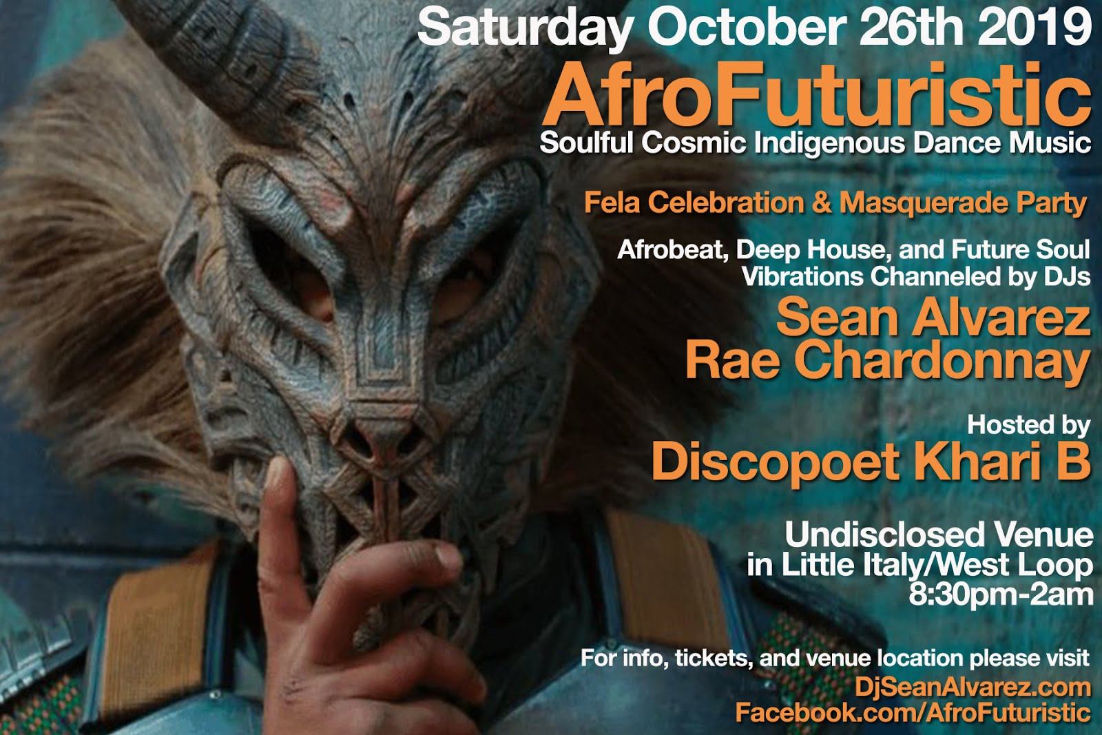 Sat 10/26: AfroFuturistic Fela Celebration & Masquerade Party