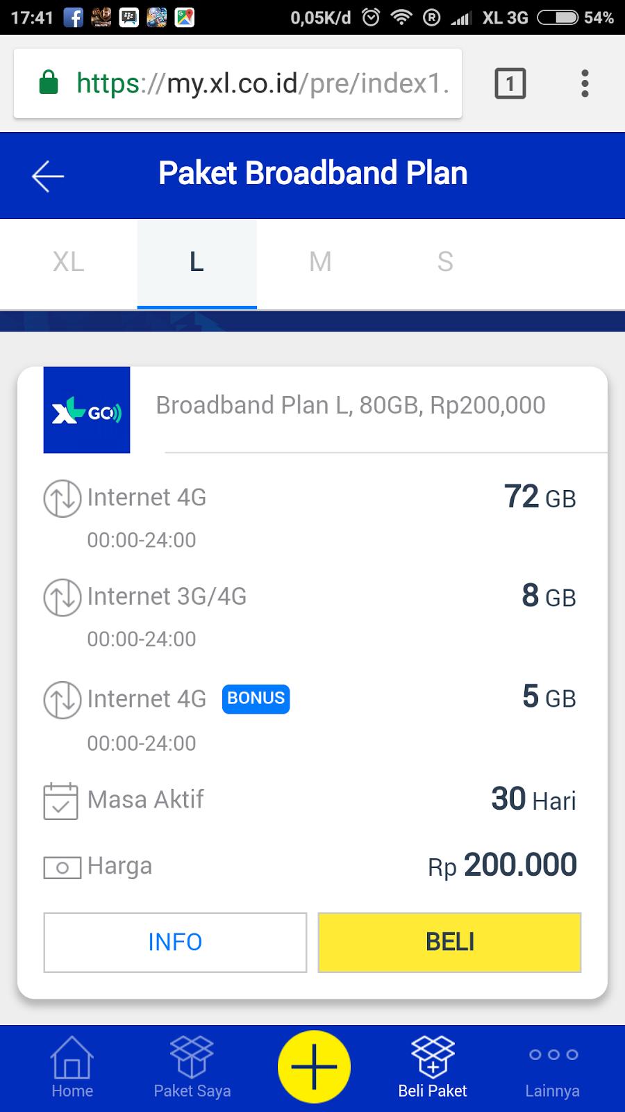 Cara Beli Kuota Xl Go 80gb Harga 200rb Izi Pertama Membeli Bisa Melalui Browser Di Komputer Ataupun Hp Saya Menggunakan Chrome Android Masuk Ke Myxl Atau Buka Link