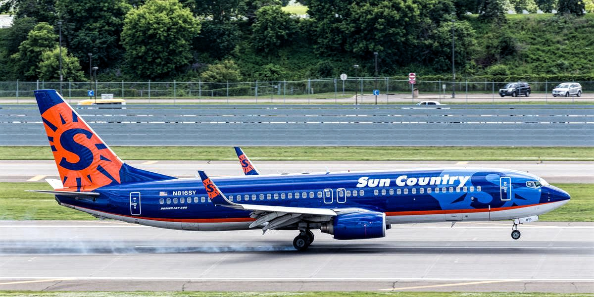 Boeing 737-800 of Sun Country Airlines