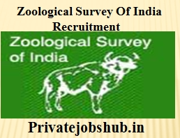 Zoological Survey Of India Recruitment