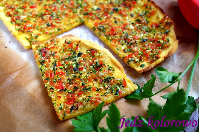 bezglutenowa turecka pizza lahmacun, wege