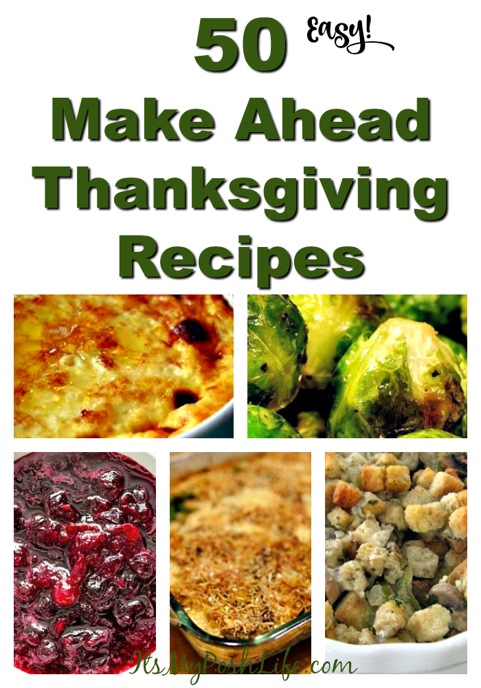 50 Make Ahead Thanksgiving Recipes