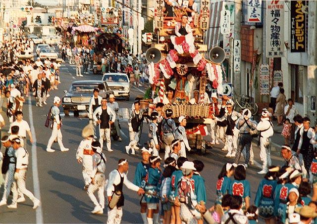 Tsuchiura Gion Matsuri (summer festival), Tsuchiura City, Ibaraki Pref.