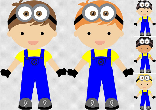 Kids Disguised as Minions Clipart.