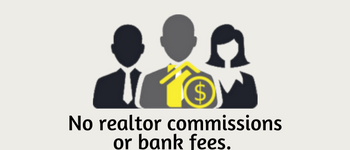 No realtor commissions or bank fees