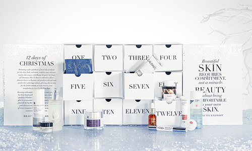 Contents and spoilers of the Beauty Expert 12 Days of Christmas Advent Calendar for Holiday 2017.