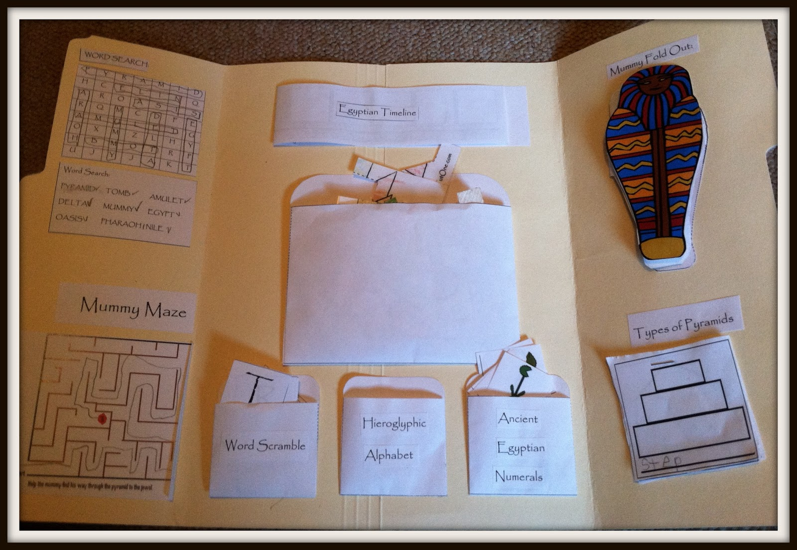 Heritage Homeschool Egypt Unit Study And Lapbook Day 2