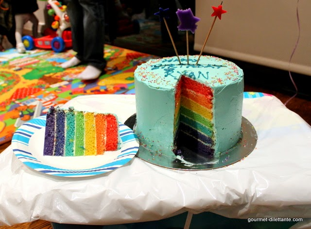 Happy First Birthday To Ryan Baby And A Rainbow Cake