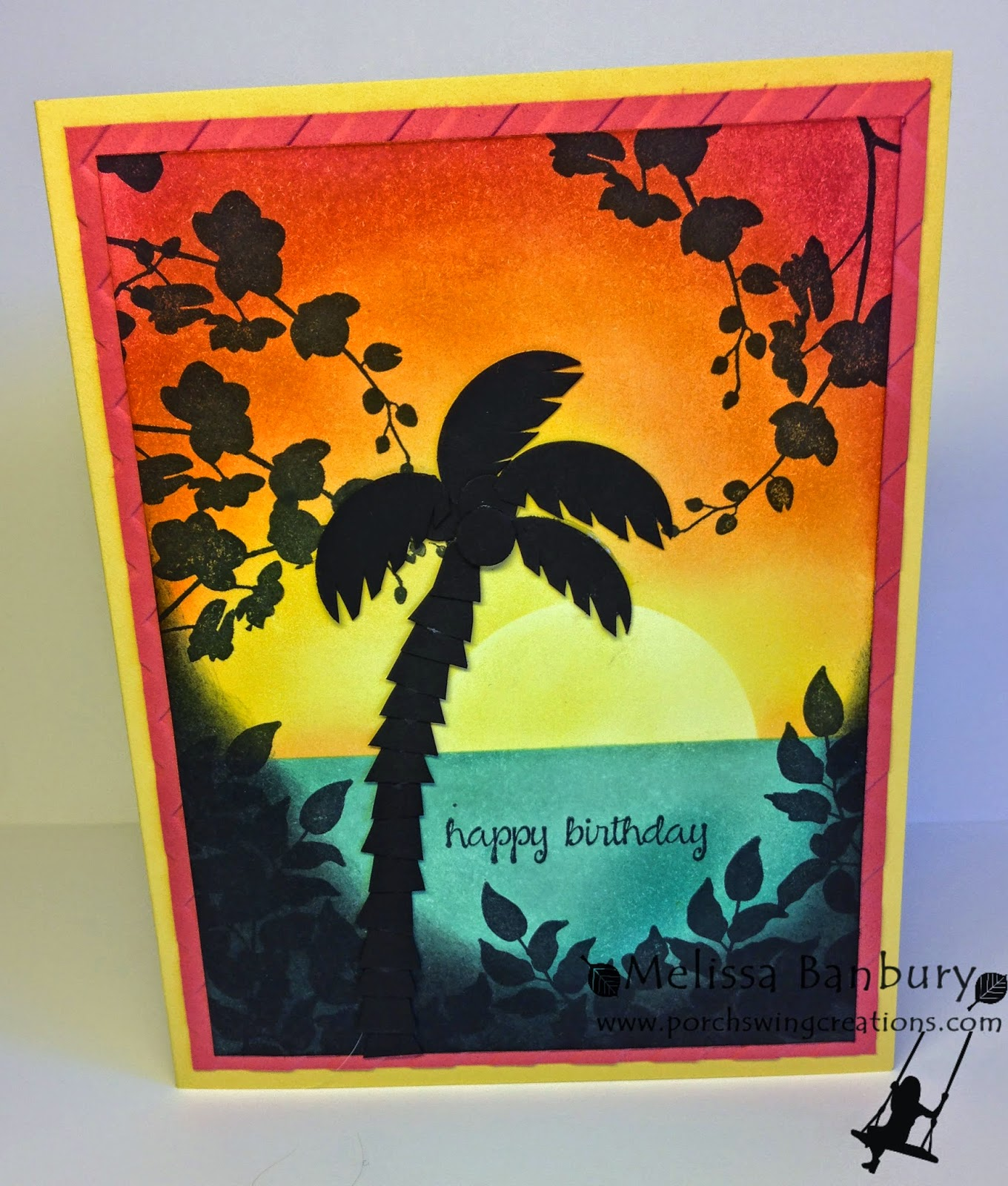 Porch Swing Creations: Tropical Birthday Wishes