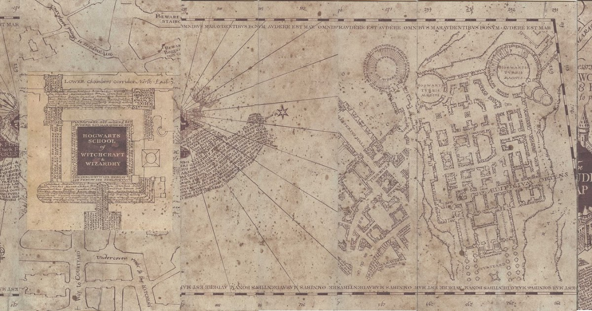 graphic about Marauders Map Printable named Harry Potter Paraphernalia: Marauders Map: Within and Outside the house