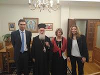 Συνάντηση αντιπροσωπείας της Βουλής με τον Αρχιεπίσκοπο Τιράνων, Δυρραχίου και πάσης Αλβανίας Αναστάσιο