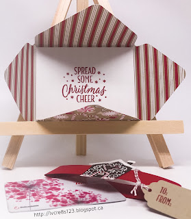 Linda Vich Creates: Christmas Decor and Gift Card Holder. Christmas gift card holder using Candy Cane Lane DSP.