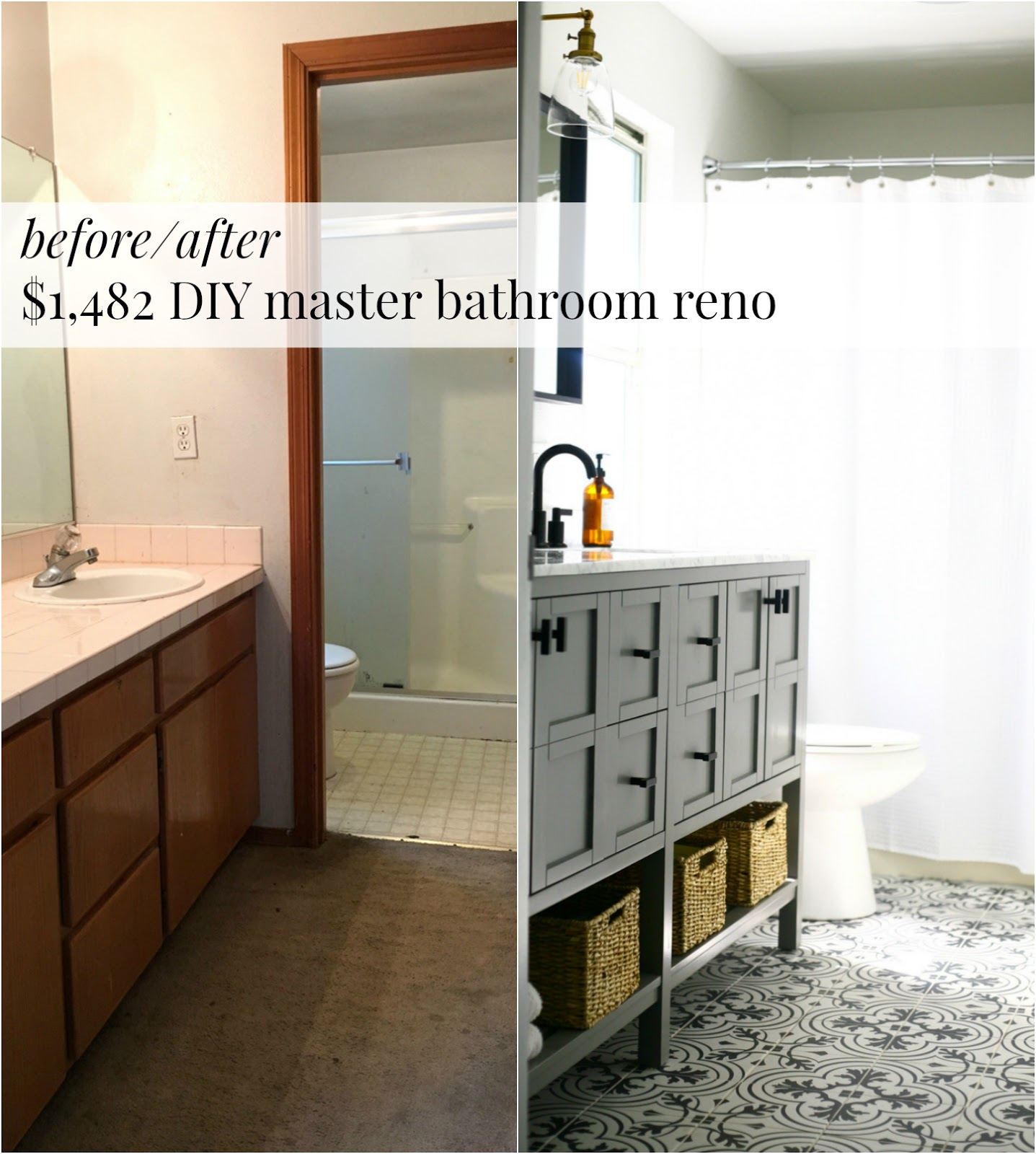 ... Reveal, Budget, And Sources: $1,482 Master Bathroom Reno