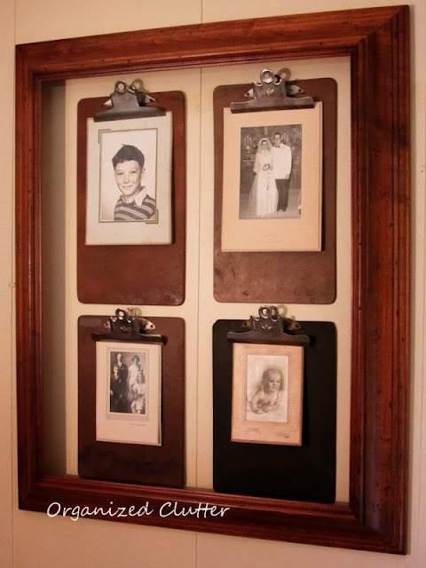 Clipboard Photo Wall http://organizedclutterqueen.blogspot.com/2013/10/pinterest-inspired-clipboard-photo-wall.html
