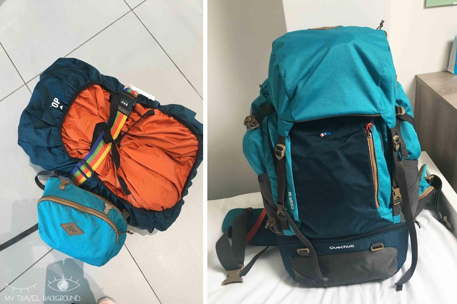 My Travel Background : voyager en sac à dos, quel modèle choisir, et quoi mettre dedans? Decathlon Escape 50L femme