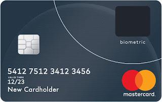 Mock-up of Mastercard biometric bankcard