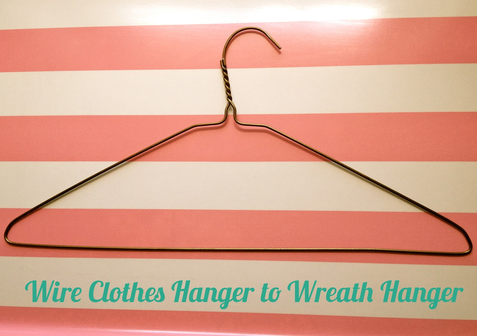 Refashion Wire Clothes Hanger To Wreath