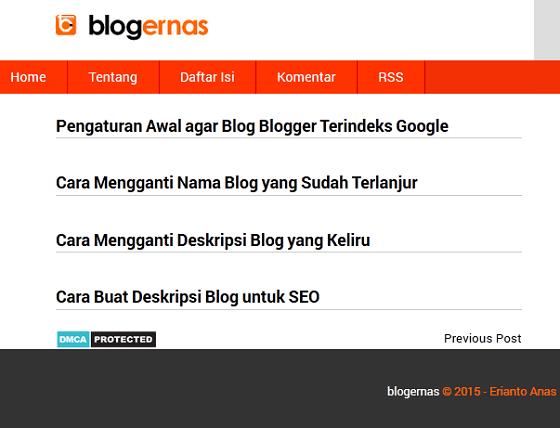 Cara Mengatur Jumlah Postingan di Halaman Home Blogger