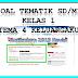 Soal Tematik Kelas 1 Tema 4 Keluargaku  Kurikulum 2013 Revisi