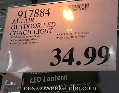 Deal for the Altair Lighting Outdoor LED Coach Light at Costco