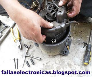 despiece de la bobina del compresor