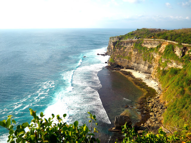 Cliff views from Uluwatu Temple, Bali, Indonesia