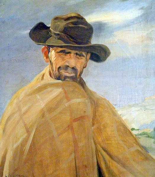 Retrato de hombre, Laureano Barrau Buñol, Pintor Catalán, Pintor español, Cuadros de Laureano Barrau Buñol, Barrau Buñol,  Laureano Barrau
