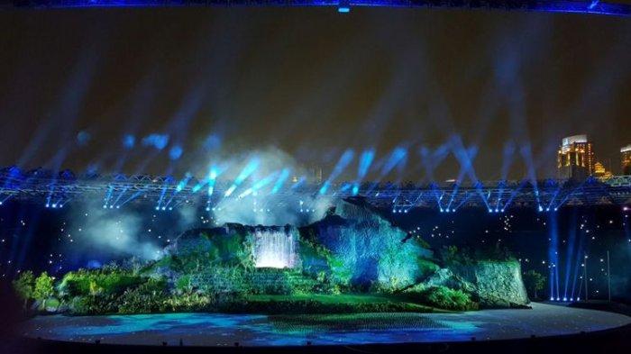Foto Dibalik Megahnya Gunung Pembukaan Asian Games 2018