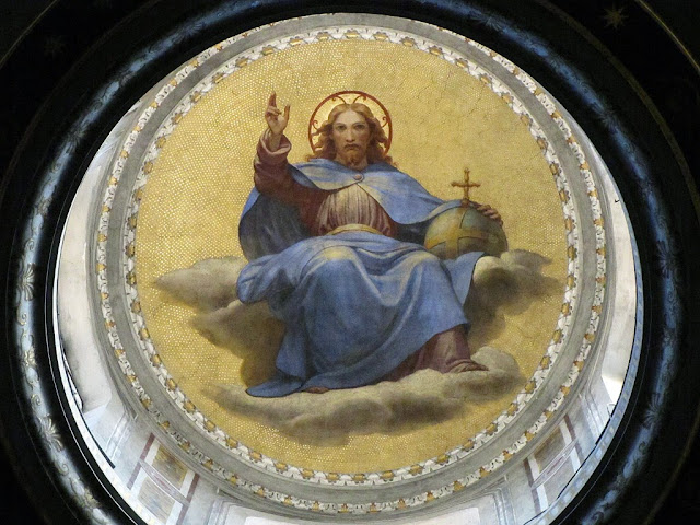 Interior of the lantern of the dome by Giovanni Lanfranco, Basilica of Sant'Agostino, Rome