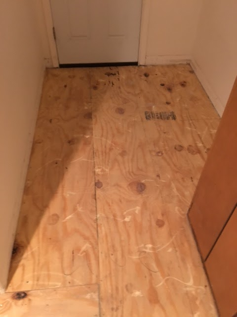 plywood floors - kitchen remodel