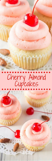 Cherry Almond Cupcakes Recipe