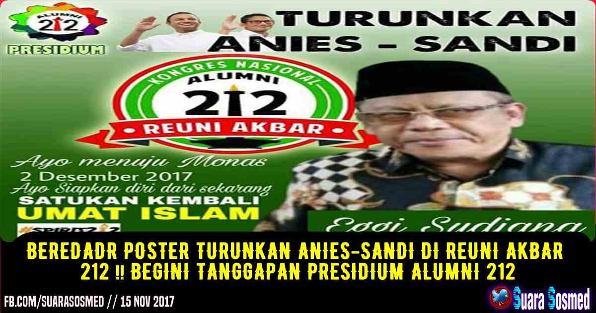 Undangan Reuni Akbar 212 Turunkan Anies Sandi Viral Presidium 212