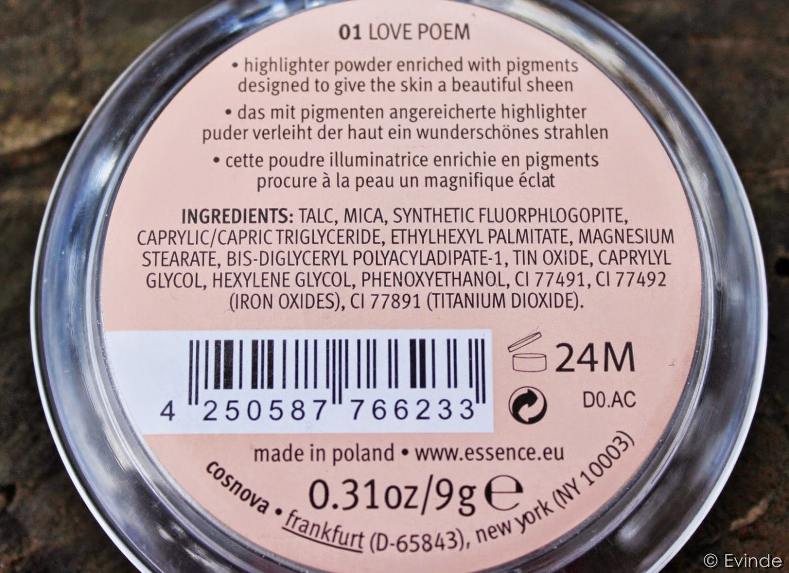 essence love letters highlighter ingredients